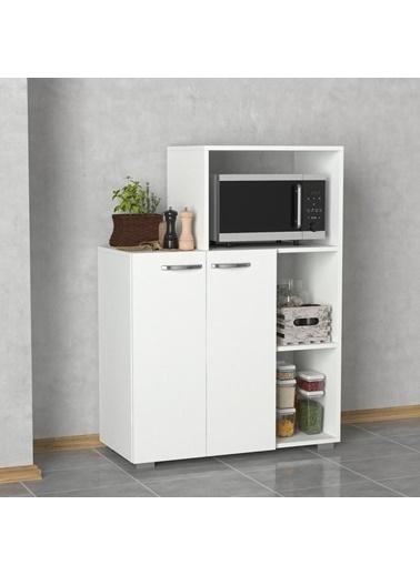 Dekorister Pars Mutfak Dolabı - Fırın Dolabı Beyaz Renkli